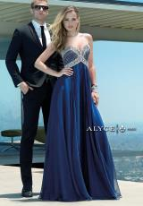 Alyce 6403.  Available in Coral, Jade, Midnight Blue, Red