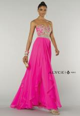 Alyce 6420.  Available in Blue Radiance, Carnival Pink, Ivory/Gold