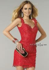 Alyce Short 6417.  Available in Black, Champagne, Diamond White, Red