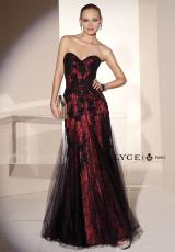 Alyce 5689.  Available in Black/Turquoise, Coral/Nude