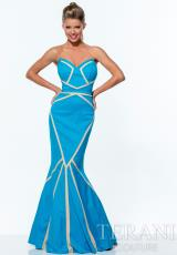 Terani 151P0066.  Available in Black/Nude, Turquoise/Nude