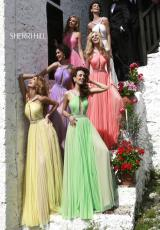 Sherri Hill 11178.  Available in Coral, Ivory, Light Blue, Light Green, Lilac, Pink, Yellow