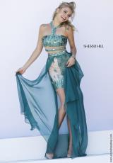 Sherri Hill 9743.  Available in Emerald, Ivory/Gold, Purple, Red, Royal