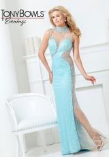 Tony Bowls Evenings TBE11506.  Available in Champagne, Coral, Light Turquoise