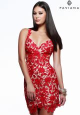 Faviana 7623.  Available in Navy/Nude, Red/Nude