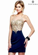 Faviana S7629.  Available in Navy/Gold
