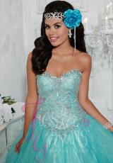 Tiffany Quinceanera 56263.  Available in Hot Coral, Sky Blue