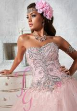 Tiffany Quinceanera 56266.  Available in Aqua, Pink, White