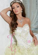 Tiffany Quinceanera 56267.  Available in Royal, White, Yellow