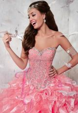 Tiffany Quinceanera 56270.  Available in Coral/Pink, Sky Blue/Pink, White/White