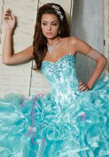 Tiffany Quinceanera 56273.  Available in Coral, Turquoise, White