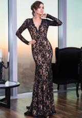 Jovani 22945.  Available in Black/Nude, Blush/Nude, Red/Nude