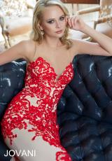 Jovani 23317.  Available in Nude/Black, Nude/Red