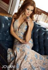 Jovani 24233.  Available in Nude/Blue