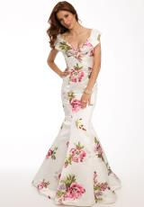 Jovani 21875.  Available in Ivory/Multi