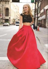 Jovani 26022.  Available in Black/Ivory, Black/Red