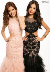 Jovani 21772.  Available in Black/Nude, Blush/Nude