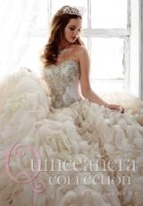 Tiffany Quinceanera 26800.  Available in Champagne/Aqua , Champagne/Ivory , Sparkle White/White