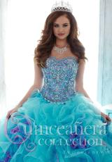 Tiffany Quinceanera 26804.  Available in Ivory/Coral, Light Turquoise/Lilac