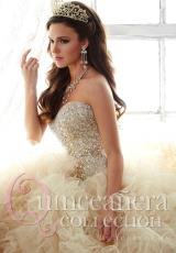 Tiffany Quinceanera 26806.  Available in Fuchsia, Gold, Sparkle White