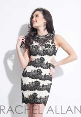 Rachel Allan 3013.  Available in Black/Nude, White/Nude