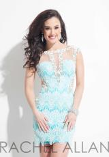 Rachel Allan 3032.  Available in White/Aqua, White/Blush