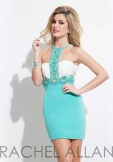 Rachel Allan 4006.  Available in Black/Royal, White/Jade