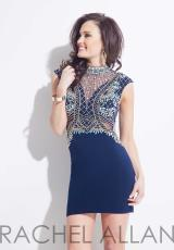 Rachel Allan 4051.  Available in Aqua, Navy, White/Gold
