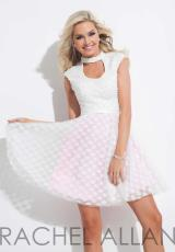 Rachel Allan 4052.  Available in Black, White/Pink