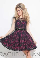 Rachel Allan 4067.  Available in Black/Fuchsia, Black/Nude