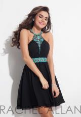 Rachel Allan 4081.  Available in Aqua, Black, Coral