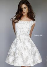 Sherri Hill Short 11297.  Available in Ivory/Nude