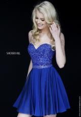 Sherri Hill Short 1978.  Available in Peacock, Periwinkle, Royal, Ruby