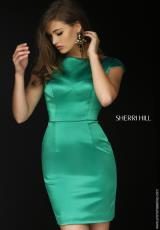Sherri Hill Short 32295.  Available in Emerald, Red, Royal