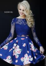 Sherri Hill Short 32323.  Available in Navy, Plum