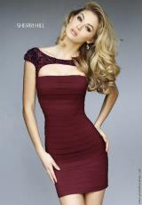 Sherri Hill Short 32332.  Available in Black, Navy, Plum