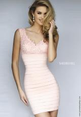 Sherri Hill Short 32334.  Available in Black, Blush, Fuchsia, Ivory, Royal