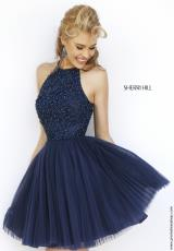 Sherri Hill Short 32335.  Available in Black, Blush, Gunmetal, Ivory, Navy, Purple, Red