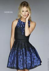 Sherri Hill Short 9744.  Available in Black/Royal