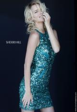 Sherri Hill Short 9752.  Available in Emerald, Red, Royal