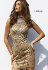 Sherri Hill Short 9753.  Available in Gold