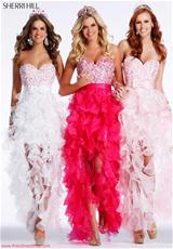 Sherri Hill 2415.  Available in Aqua, Light Pink, Royal, White, Yellow