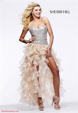 Sherri Hill 2463.  Available in Fuchsia/Fuchsia, Ivory/Gold, Nude, Pink/Silver, Red/Red, Royal/Royal, Turquoise/Turquoise
