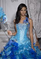 Tiffany Quinceanera 26685.  Available in Turquoise/Royal