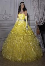 Tiffany Quinceanera 26693.  Available in Turquoise/Turquoise, White/White, Yellow/Yellow