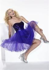 2014 Hannah S Strapless Party Dress 27674