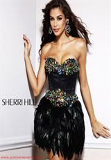 2012 Short Sherri Hill Homecoming Dress 2886
