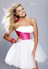 Sherri Hill 2012 Short Strapless Dress1002