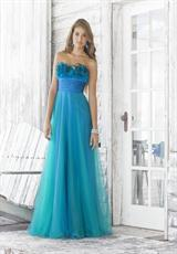 2012 Blue Strapless Prom Dress by Blush 5105