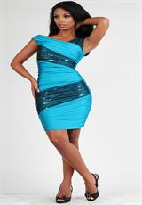 Atria Sale Dresses 6055.  Available in Black/Hot Pink